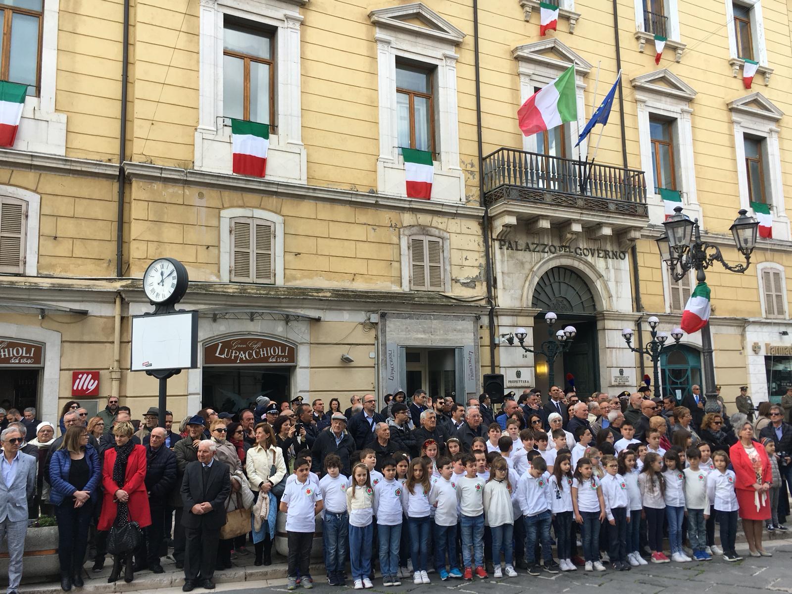 2 giugno 2019 – L'Inno d'Italia cantato dagli alunni della Jovine