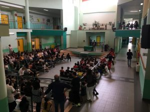 La visita del sindaco nel primo giorno di scuola